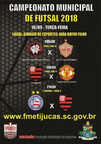 Tijucas  Começa nesta terça-feira (18) o Campeonato Municipal de ... 6911b8936f888
